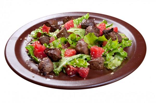 Рецепт                  Салат из печени с грейпфрутом
