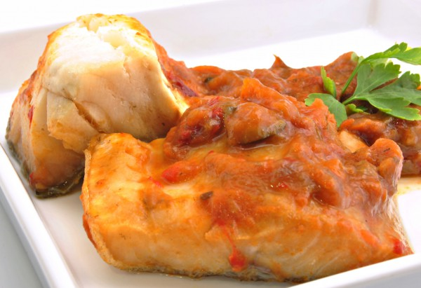 Рецепт                  Жареная треска в томатном соусе