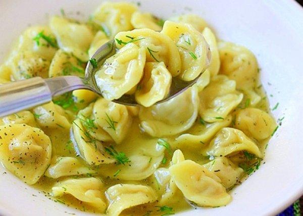 Рецепт                  Суп с домашними пельменями