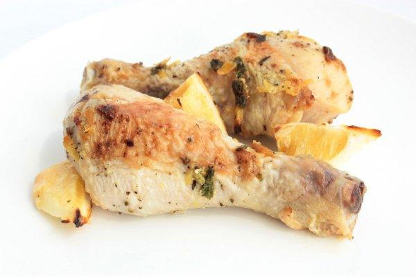 Рецепт                  Куриные ножки, запеченные с лимоном