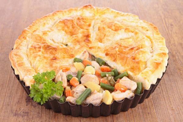 Рецепт                  Пирог с курицей и овощами