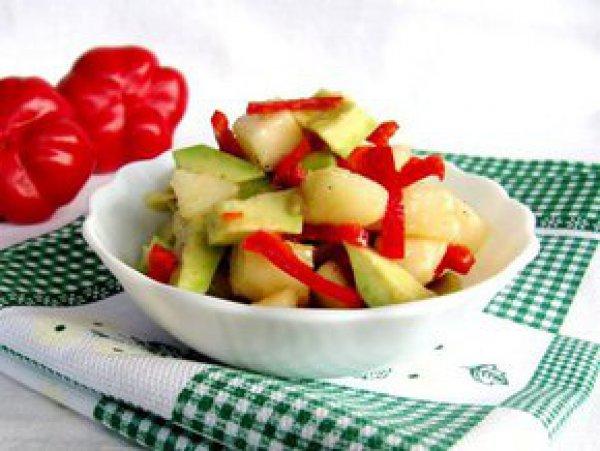 Рецепт                  Салат из авокадо, груши и перца