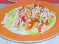 Как приготовить салат с болгарским перцем и ветчиной (видео)