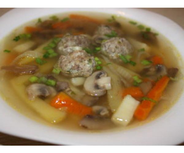 Рецепт                  Грибной суп с фрикадельками