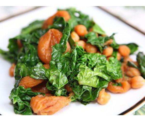Рецепт                  Нут со шпинатом