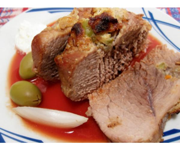 Рецепт                  Мясо в красном соусе