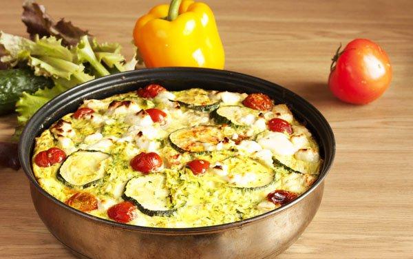 Рецепт                  Запеченные кабачки с помидорами
