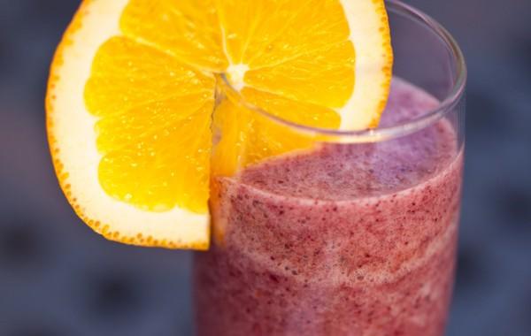 Рецепт                  Чернично-апельсиновый смузи