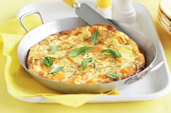 Рецепт                  Фриттата с тыквой, беконом и фетой