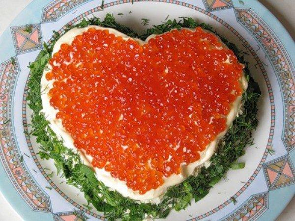 Рецепт                  Салат Сердце