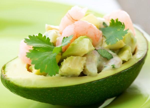 Рецепт                  Новогодние рецепты: Авокадо с креветками