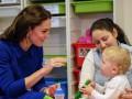 Кейт Миддлтон посетила благотворительный детский психологический центр