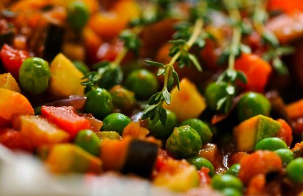 Рецепт                  Постные рецепты: Рататуй с зеленым горошком