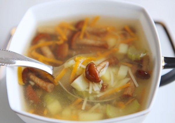 Рецепт                  Постный суп с опятами