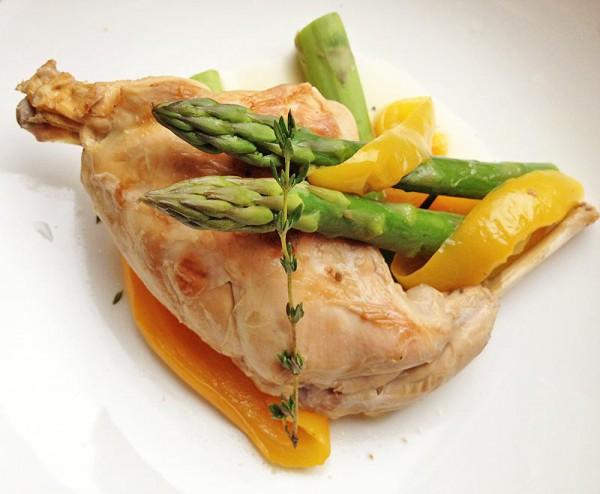 рецепты салатов со спаржей маринованной