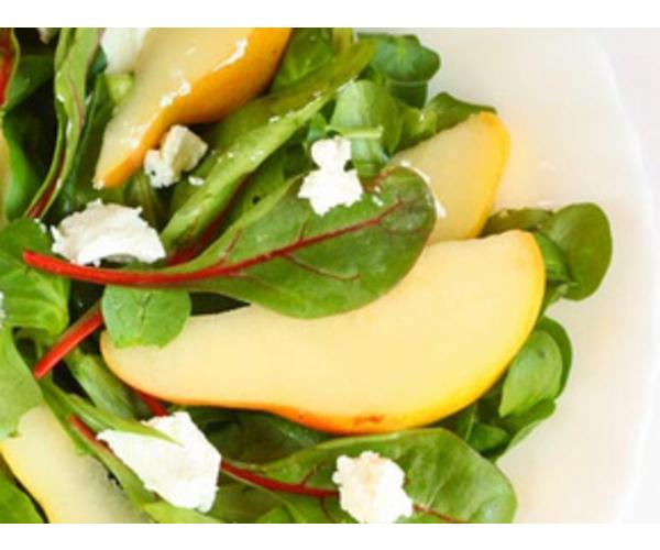 Рецепт                  Салат из груши с козьим сыром