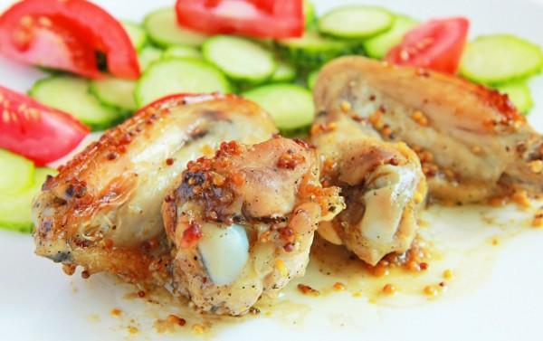 Рецепт                  Запеченные крылышки в горчично-медовом соусе