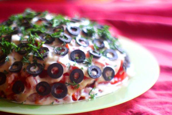 Рецепт                  Куриный салат с грибами и помидорами