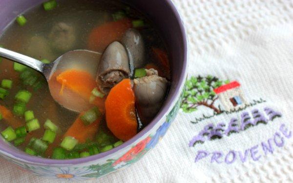 Рецепт                  Суп из куриных сердечек с овощами