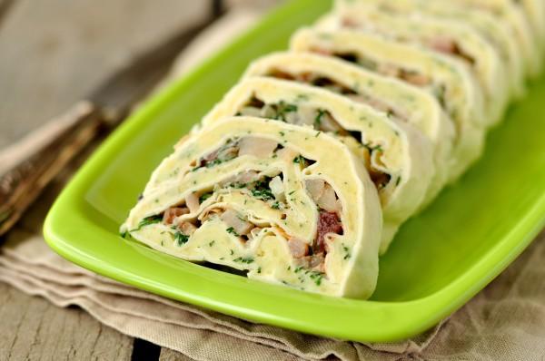 Рецепт                  Рецепты для пикника: Рулет из лаваша с картофелем и сельдью