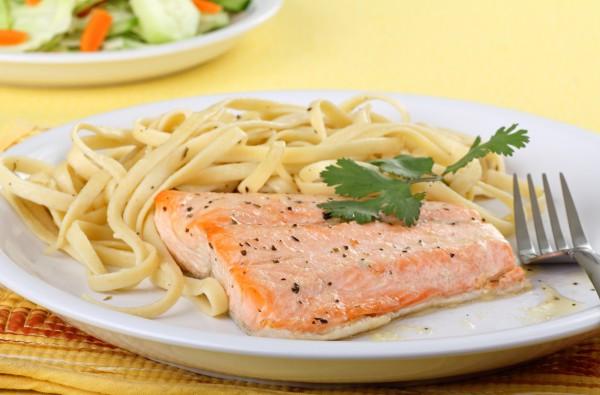 Рецепт                  Тушеное филе лосося