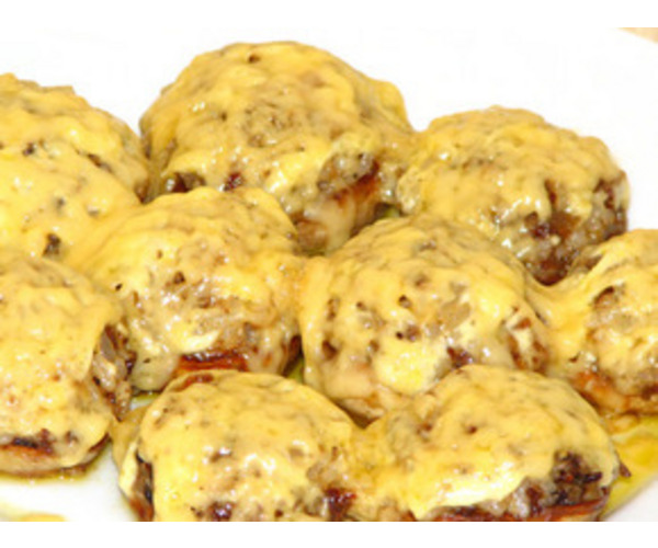 Рецепт                  Шампиньоны с сыром