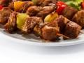 Шашлык из телятины с болгарским перцем