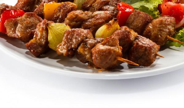 Рецепт                  Шашлык из телятины с болгарским перцем