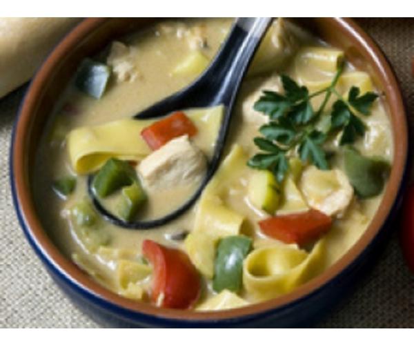 Рецепт                  Сырный суп с лапшой
