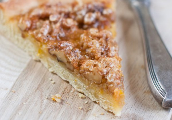 Рецепт                  Пирог с орехами и апельсинами