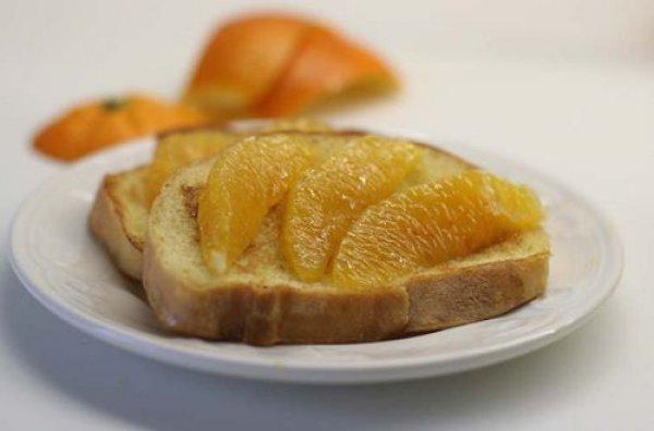 Рецепт                  Апельсиновые гренки