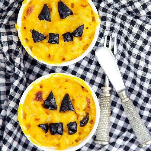 Рецепт                  Макароны с сыром на Хэллоуин