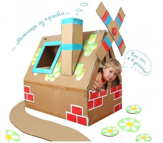 Дом из коробков своими руками