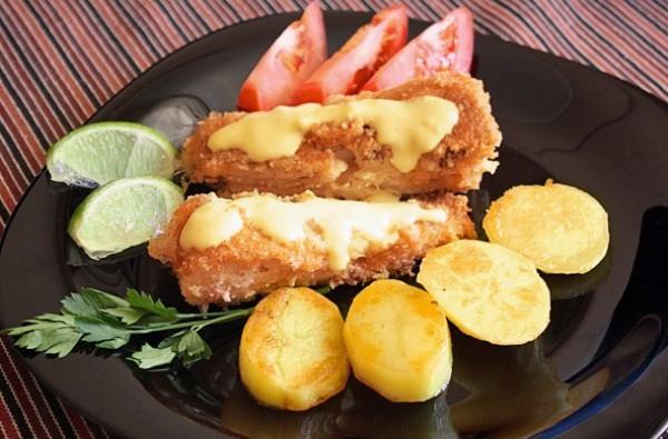 Рецепт                  Жареная рыба в ореховой панировке