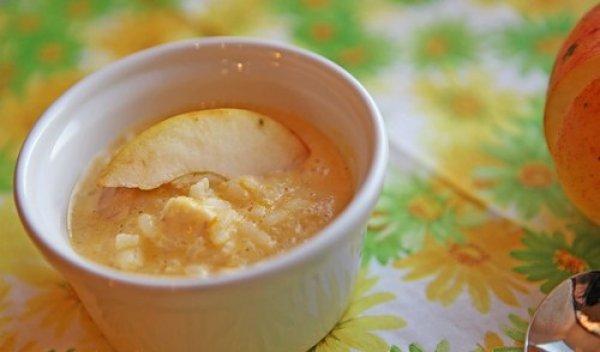 Рецепт                  Рисовая каша с тыквой и яблоками