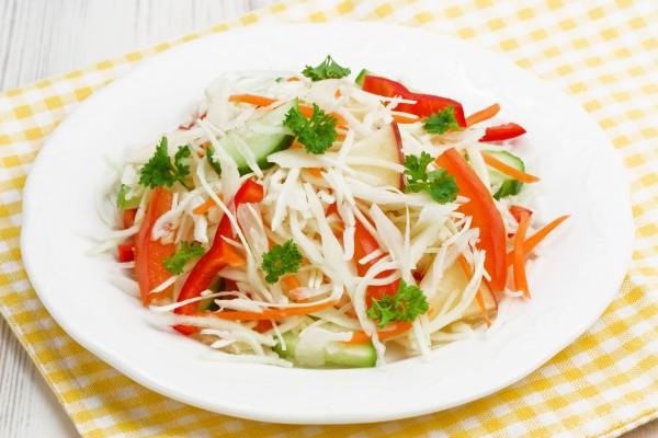 Рецепт                  Великий пост 2015: Салат из капусты и сладкого перца