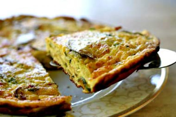 Рецепт                  Фриттата с кабачками и творогом