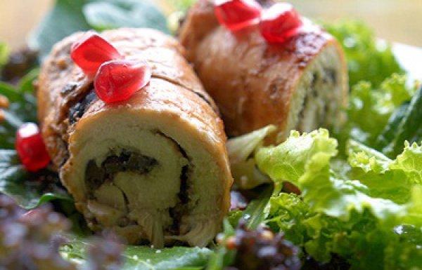 Рецепт                  Куриные рулетики с оливками