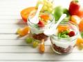 Полезный завтрак с гранолой и фруктами