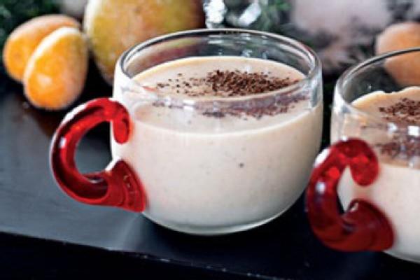 Рецепт                  Молочный пунш с коньяком