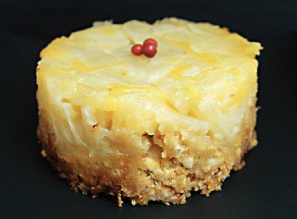 Рецепт                  Ананасовый десерт с ореховой крошкой