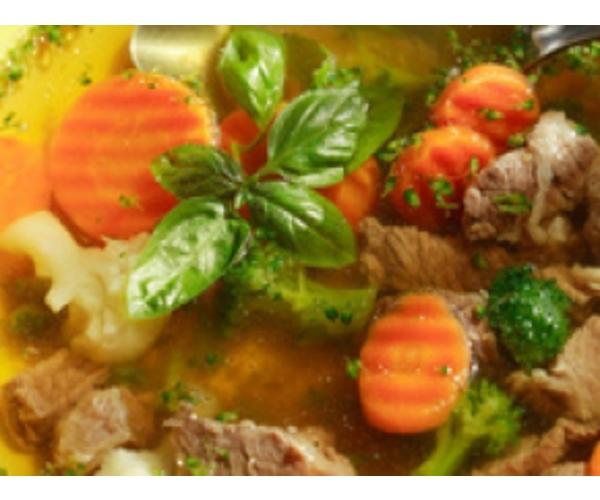 Рецепт                  Говяжий суп с овощами