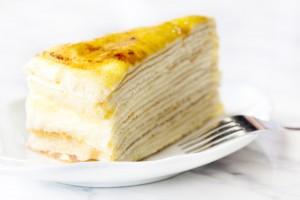 Блинный торт с творожной начинкой