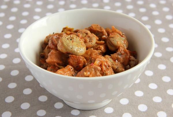 Рецепт                  Тушеная телятина с зелеными бобами