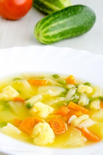 Рецепт                  Постный суп из цветной капусты и картофеля