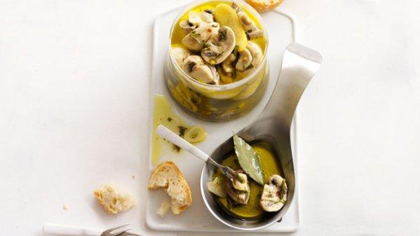 Рецепт                  Грибы в горчично-медовом маринаде