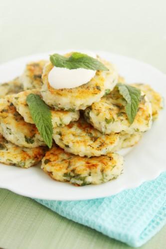 Рецепт                  Сырники с зеленью