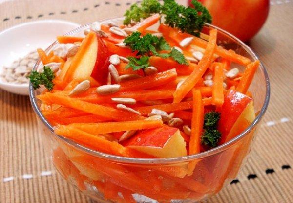 Рецепт                  Яблочно-морковный салат