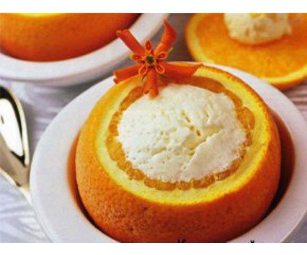 Рецепт                  Мороженое в апельсинах