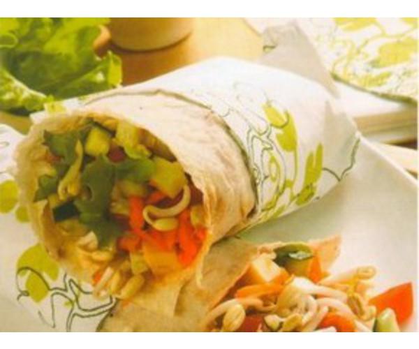 Рецепт                  Лаваш со свежими овощами